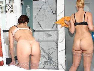 Blonde Big Red Panties